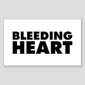 Bleeding Heart Sticker (Rectangle 10 pk)