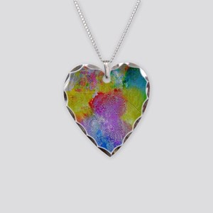 Watercolor Necklace Heart Charm