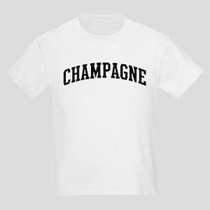 CHAMPAGNE (curve-black) Kids Light T-Shirt