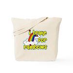 I Brake For Rainbows Tote Bag