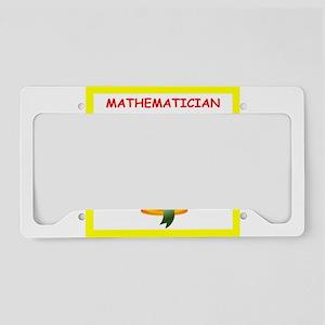 mathematics License Plate Holder