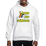 I Brake For Rainbows Hooded Sweatshirt