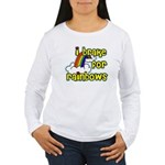 I Brake For Rainbows Women's Long Sleeve T-Shirt