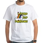 I Brake For Rainbows White T-Shirt