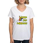 I Brake For Rainbows Women's V-Neck T-Shirt