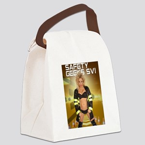 Brittney Powell Safety Geeks Canvas Lunch Bag