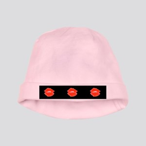 Red Kissable Lips for Neville baby hat