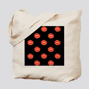 Red Kissable Lips for Neville Tote Bag