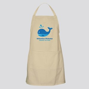 Whale CUSTOM Baby Name Birthdate Apron