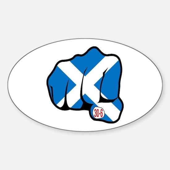 Scotland 30-6 Oval Decal