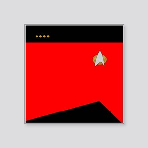 "STARTREK 2360 CMD CAPT Square Sticker 3"" x 3"""