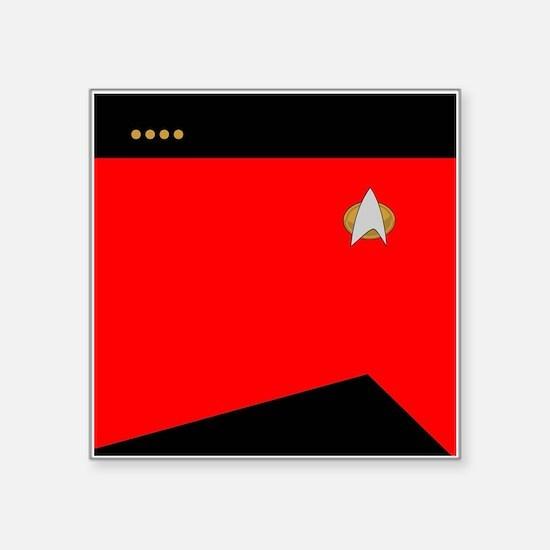 """STARTREK 2360 CMD CAPT Square Sticker 3"""" x 3"""""""