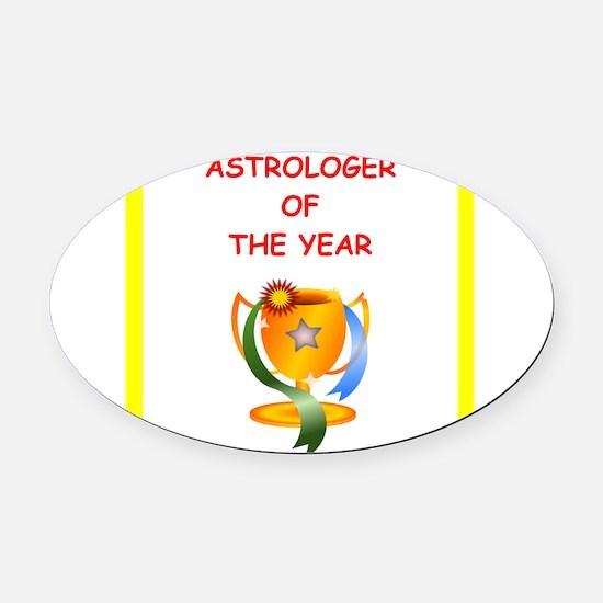 astrologer Oval Car Magnet