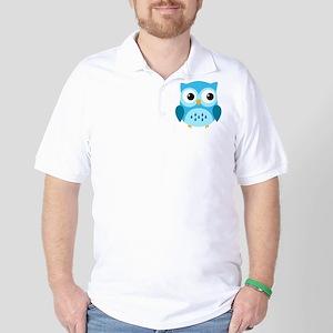 Adorable Blue Owl Golf Shirt