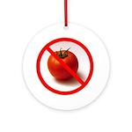 No Tomato Ornament (Round)