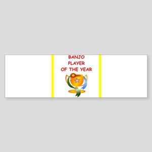 banjo Bumper Sticker