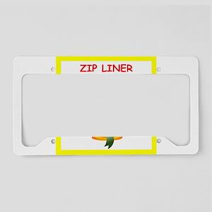 zip line License Plate Holder