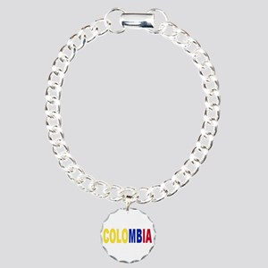 Colombia tricolor name Charm Bracelet, One Charm