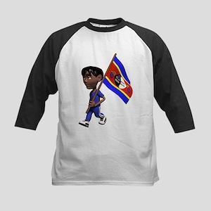 3D Swaziland Flag Kids Baseball Jersey