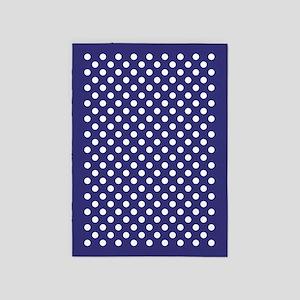 Indigo Polka Dots 5'x7'Area Rug