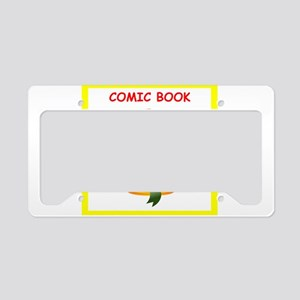 comic book License Plate Holder