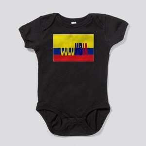 COLOMBIA FLAG WITH NAME Baby Bodysuit