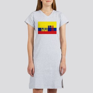 COLOMBIA FLAG WITH NAME Women's Nightshirt