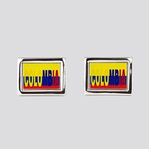 COLOMBIA FLAG WITH NAME Rectangular Cufflinks