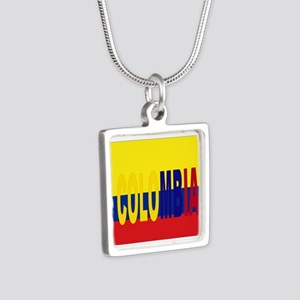 COLOMBIA FLAG WITH NAME Necklaces
