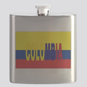 COLOMBIA FLAG WITH NAME Flask