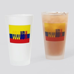 COLOMBIA FLAG WITH NAME Drinking Glass