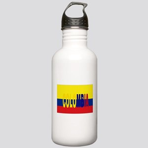 COLOMBIA FLAG WITH NAME Sports Water Bottle