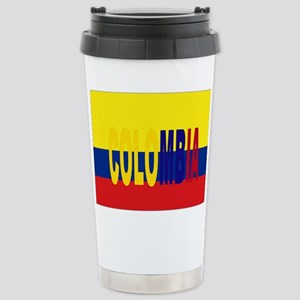 COLOMBIA FLAG WITH NAME Stainless Steel Travel Mug