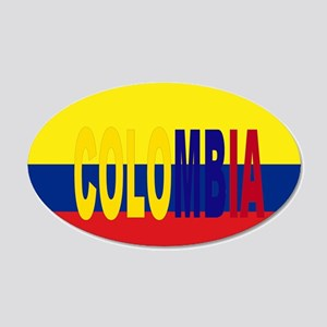 COLOMBIA FLAG WITH NAME Wall Decal Sticker