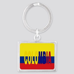 COLOMBIA FLAG WITH NAME Keychains