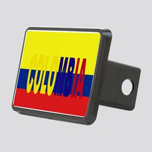 COLOMBIA FLAG WITH NAME Rectangular Hitch Cover
