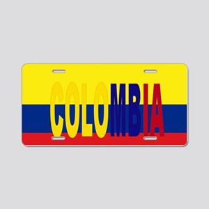 COLOMBIA FLAG WITH NAME Aluminum License Plate