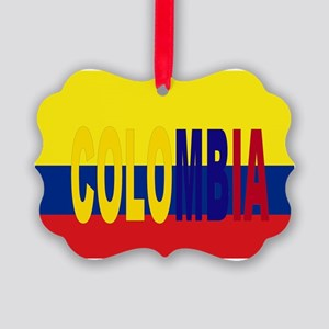 COLOMBIA FLAG WITH NAME Picture Ornament