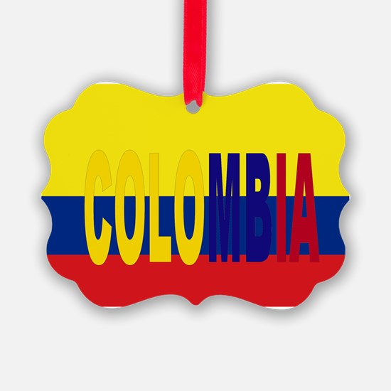 COLOMBIA FLAG WITH NAME Ornament