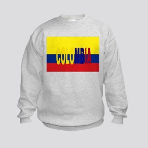 COLOMBIA FLAG WITH NAME Jumper Sweater
