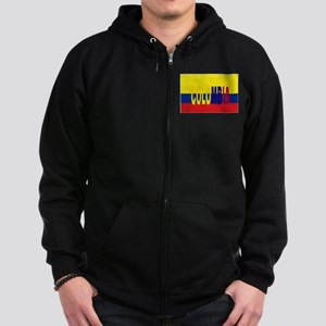 COLOMBIA FLAG WITH NAME Zip Hoodie