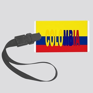 COLOMBIA FLAG WITH NAME Large Luggage Tag