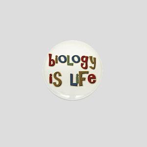 Biology is Life Pun Science Major Mini Button