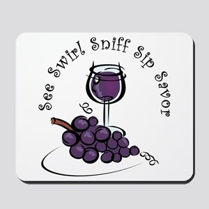 Red Wine 5 S's Mousepad
