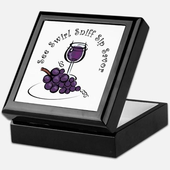 Red Wine 5 S's Keepsake Box