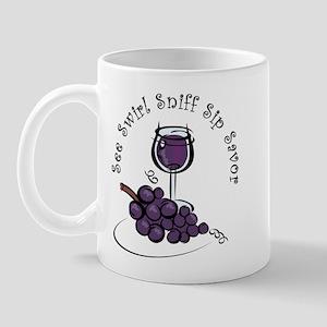 Red Wine 5 S's Mug
