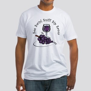 Red Wine 5 S's Fitted T-Shirt