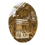 Desire Streetcar Oval Ornament