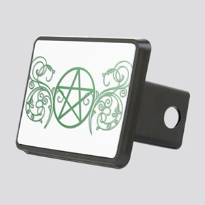 Pretty green pentacle Rectangular Hitch Cover