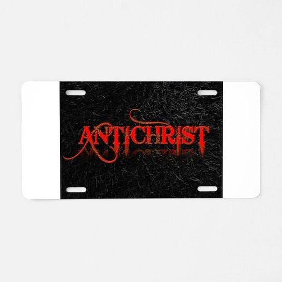 antichrist Aluminum License Plate